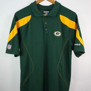 Reebok NFL Green Bay Packers On Field Polo Shirt S